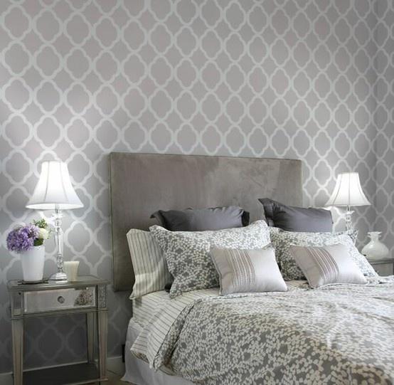 Quatrefoil wallpaper bedrooms pinterest patterns for Bedroom stencils designs