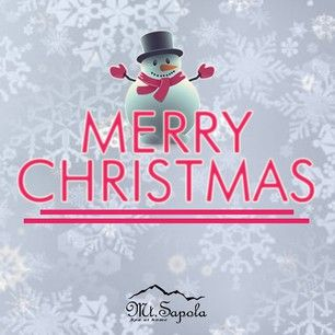 The team behind Mt. Sapola wishes all the lovely people out there a very Merry Christmas!  Have a beautiful day with your loved ones!