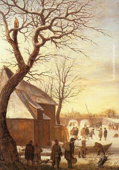 Barent Avercamp Winter Landscape, painting Authorized official website