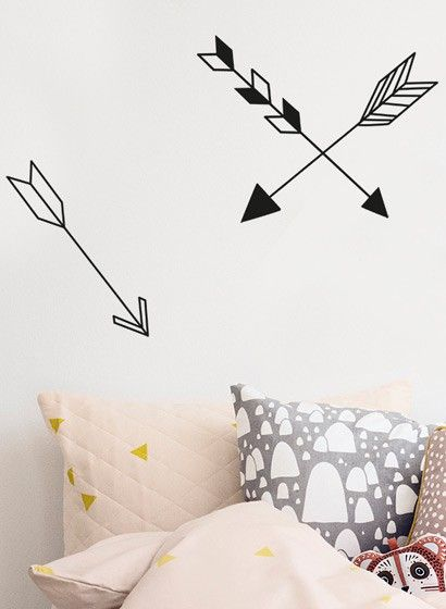Pfeilmotive: Wandsticker Mini Arrow von Ferm Living #design #tapezieren