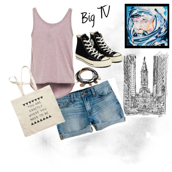 """An outfit inspired by the 2013 White Lies album """"Big TV""""."""