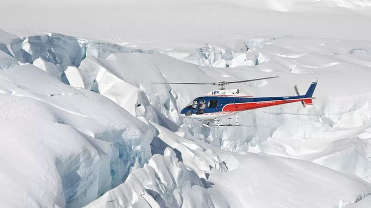 Fly real close to the glacial ice formations