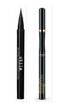 The Stila Stay-All-Day waterproof liquid liner is a very popular liquid eyeliner pen because of it's easy-glide, long-lasting, smudge-free formula. One of the best liner pens from the drugstore is the L'Oreal Infallible eyeliner, which happens to be a great dupe for the Stila favorite. The L'Oreal liner pen now comes in a Super Slim version to allow for even more precision.