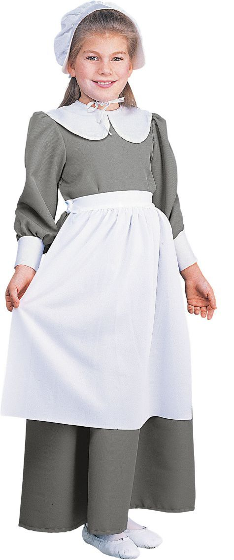 Deluxe Pilgrim Costume for Girls - Party City
