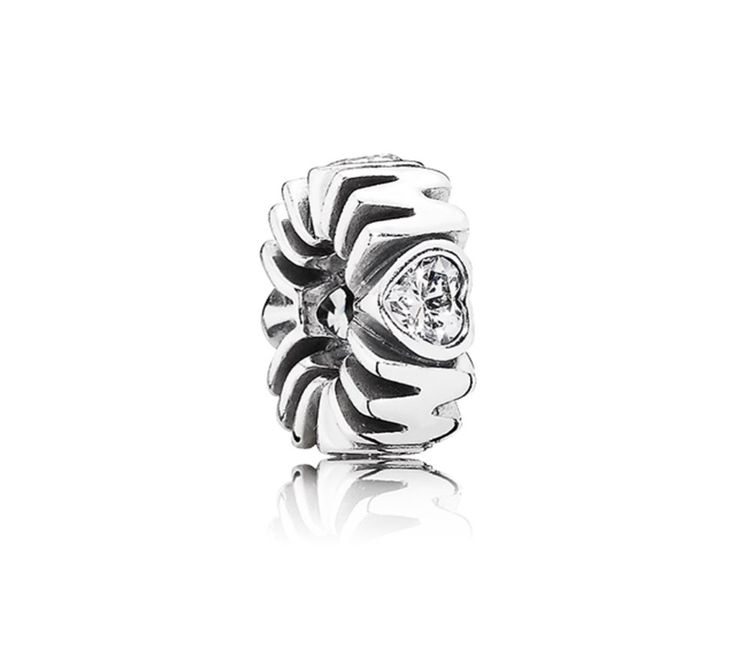 Mum silver spacer with cubic zirconia                  price: 149 nis