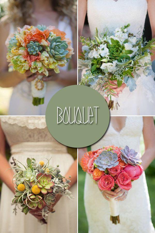 Continuing the succulent theme... Bouquets