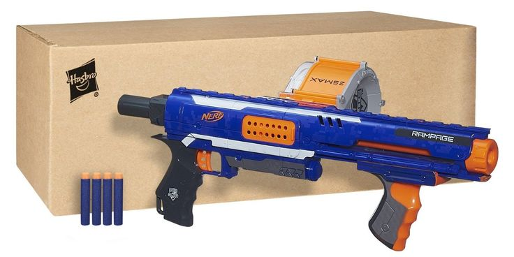 Time to go on a Rampage! Not Rampage Jackson, but the Nerf Elite Rampage blaster. With it's pump-action foregrip Slam-Fire madness, this blaster's a BEAST.