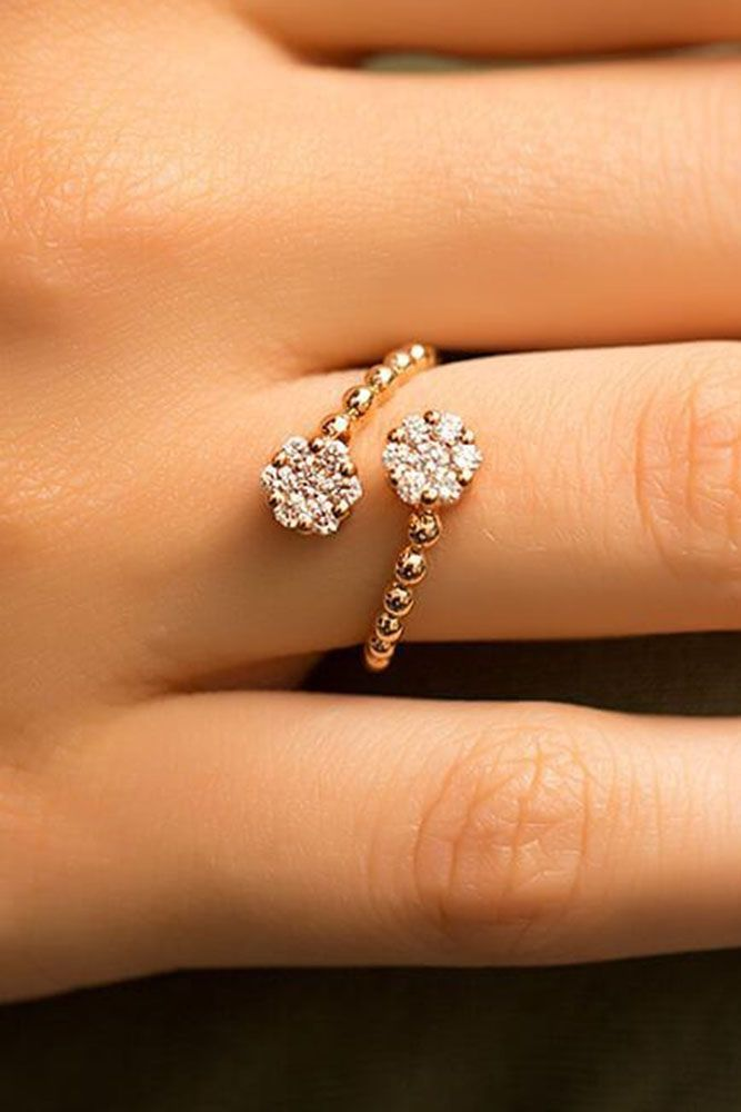 engagement ring trends unique open rose gold ring