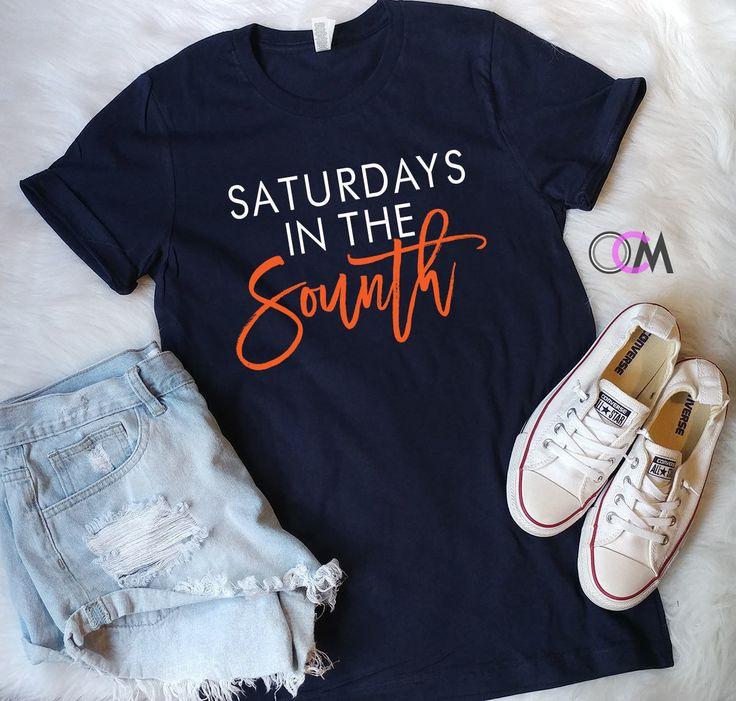 Saturdays In The South Shirt, Football Shirt, College Football Shirt, Game Day Shirts, War Eagle Shirt, Bama Shirt, Auburn Shirt, BHM Shirt by 1OneCraftyMomma on Etsy