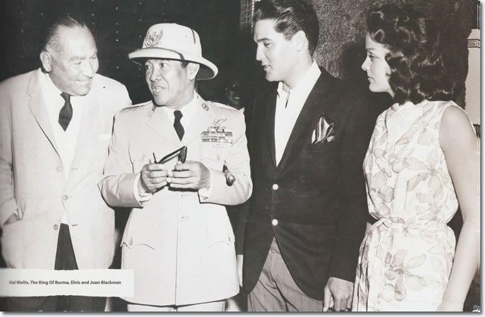 In this picture we see Hal Wallis, Indonesia's first President Kusno Soekarno [1945 to 1967], Elvis Presley Joan Blackman. Soekarno met Elvis in Hawaii while en route to the US to visit President John Kennedy.