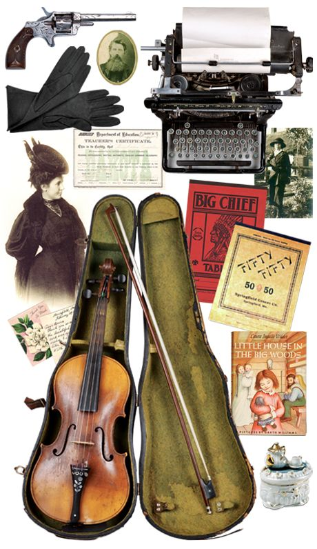 Laura Ingalls Wilder wrote her Little House Books while living in Missouri.  Here's your chance to see Pa's fiddle!
