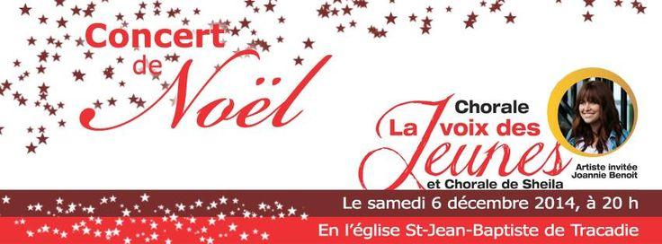 Demain soir, je participerai le temps de quelques chansons au concert de Noël à l'église St-Jean-Baptiste de Tracadie à 20h!