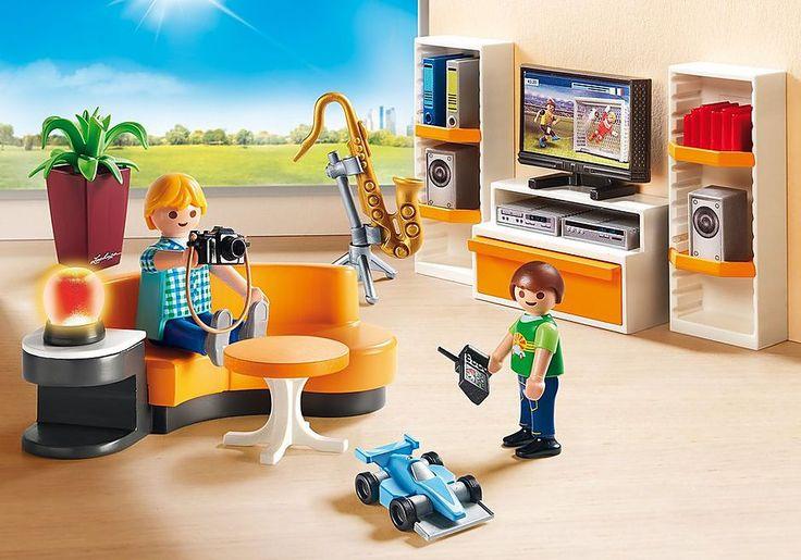 Wohnzimmer 9267 Playmobil Deutschland Playmobilaufbewahrung In 2020 Playmobil Modern House Toys