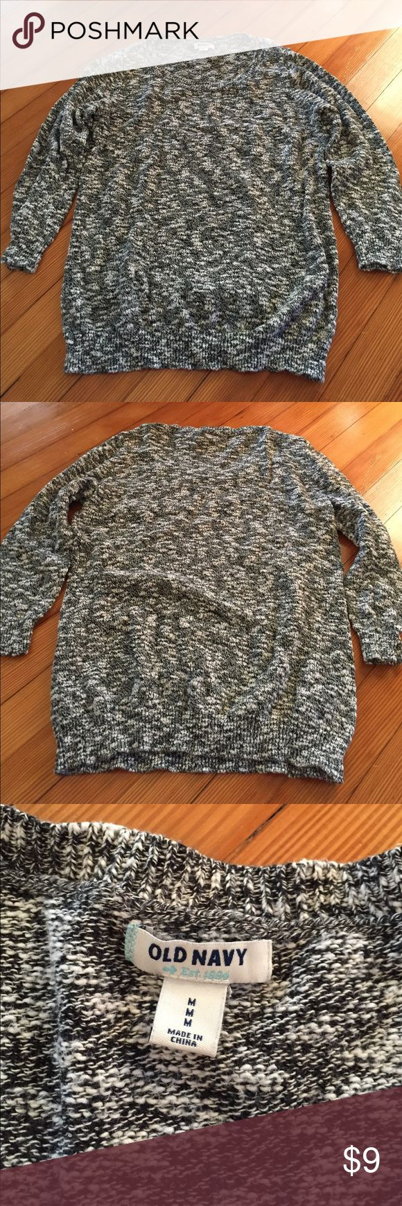 Old Navy 3/4 sleeved marled sweater Marled sweater, 3/4 length sleeves, worn twice!! Old Navy Sweaters Crew & Scoop Necks