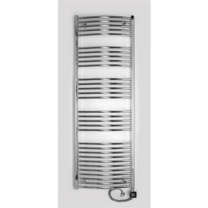 Radiateur électrique sèche serviette chromé 1775 x 500 - 1000W - Achat / Vente seche-serviette Radiateur électrique sèche  - Cdiscount