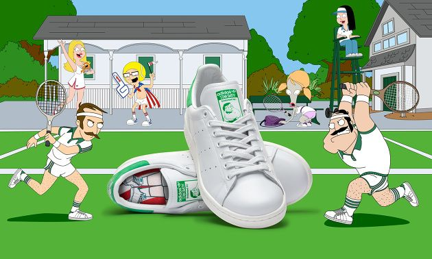 This October, American Dad! is moving to TBS for an all new season. To celebrate this move, adidas Originals and American Dad! have joined forces to collide the legendary Stan Smith with American Dad!'s infamous main character Stan Smith…