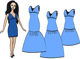 A small evening dress :: Sewing for dolls