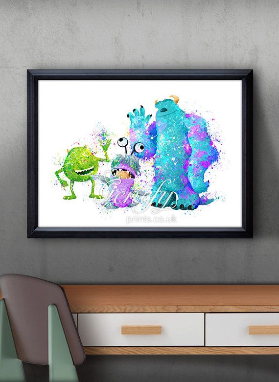 Disney Pixar Monsters Inc Mike Sully and Boo by GenefyPrints
