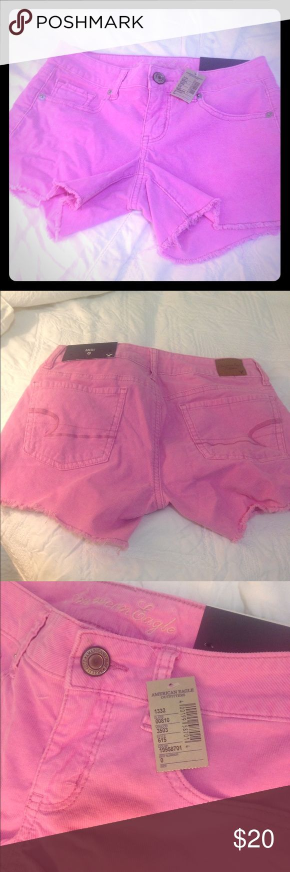 American Eagle midi shorts American eagle pink midi shorts, sz 0, fit sz 3 & 5 (stretchy) sold out in stores only selling because they dont fit me American Eagle Outfitters Shorts