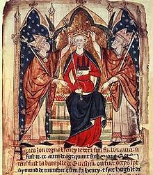 Henry III King of England (Reign:  19 October 1216 – 16 November 1272)  aka Henry of Winchester.  The son of King John and Isabella of Angoulême.  A 13th-century depiction of Henry III's coronation.