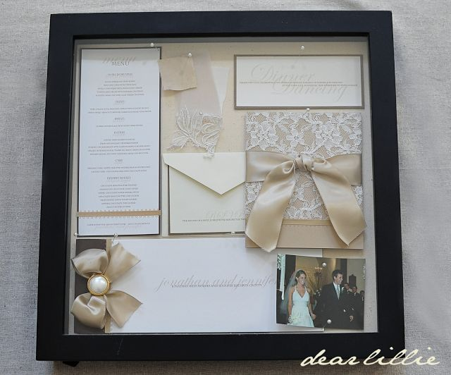 Our Wedding Invitation Program And Menu Box Frame Lovely Way To Kept