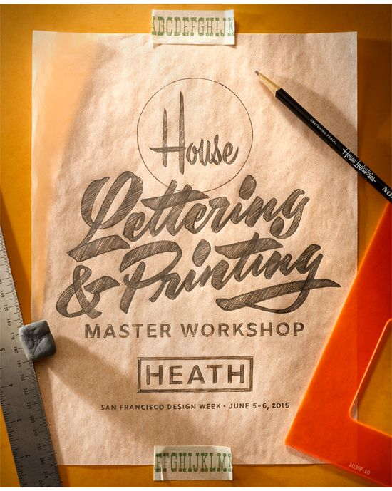 Lettering photo mockups? House Industries