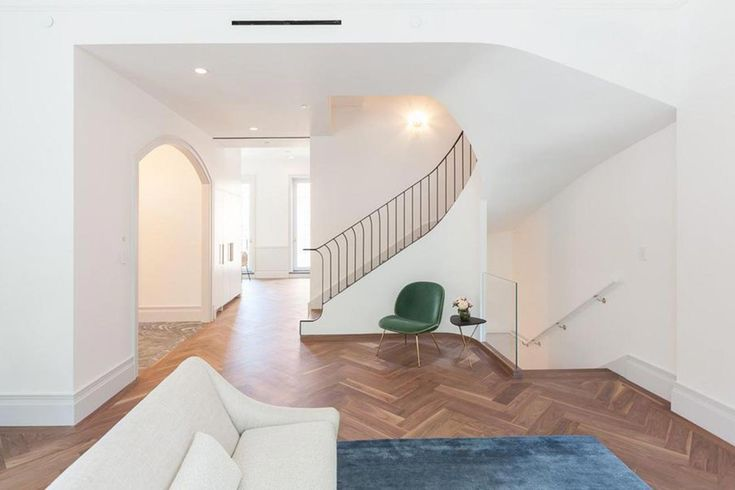 Chevron wood floors, a corner location, fresh, clean white walls and forty windows to welcome the natural light. Recently put on the market for $14.5 million, this Brooklyn Heights townhouse offers…