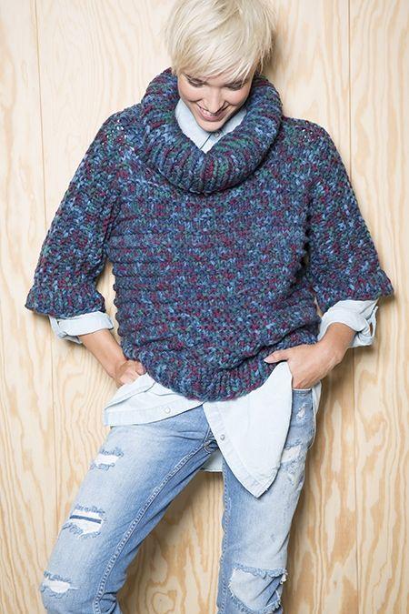 Oversized Merino Wool Scarf - Bougainvilleas XL Wool by VIDA VIDA GviCyIsZtH