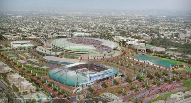 Proposal for an updated Los Angeles Memorial Coliseum for the 2024 Summer Olympics