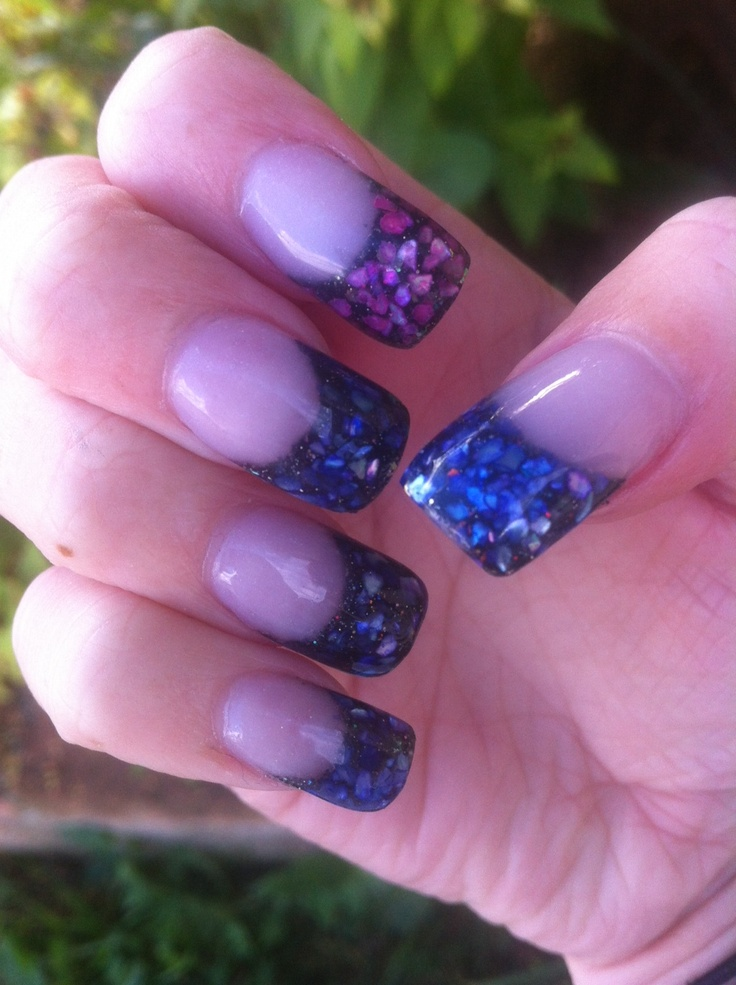 74 Best Images About Crushed Shell Nail Art On Pinterest Nail Art Meteor Shower And Acrylics