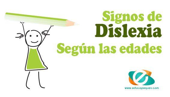 Los signos o síntomas de dislexia pueden variar dependiendo de la edad. Conoce algunos ejemplos de señales de dislexia que pueden apoarecer según edades