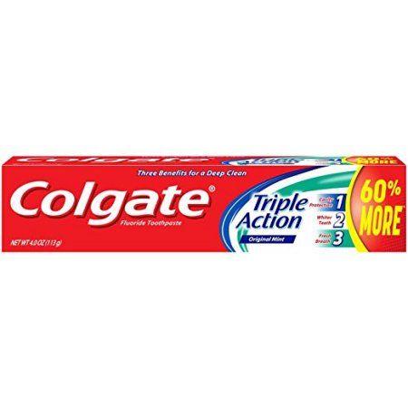 Colgate Triple Action Original Mint Toothpaste, 4 Oz