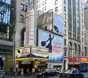 New Amsterdam Theatre is a gorgeous old theater. It is currently home to the Broadway Musical Mary Poppins.