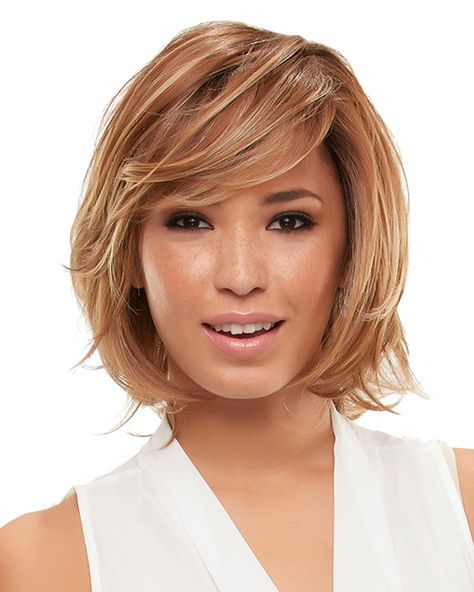Flirty layers add bohemian allure to this classic bob. The heat style-able HD fiber, lace front and hand tied mono top create a superbly natural look and feel.  #Wigs #Bob #MaxWigs  http://shop.maxwigs.com/products/elizabeth-wispy-layers-smart-lace-front-mono-top-by-jon-renau-wigs?variant=5286959683