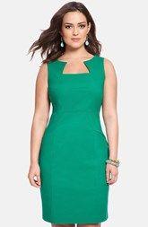 ELOQUII Seamed Sleeveless Sheath Dress (Plus Size)