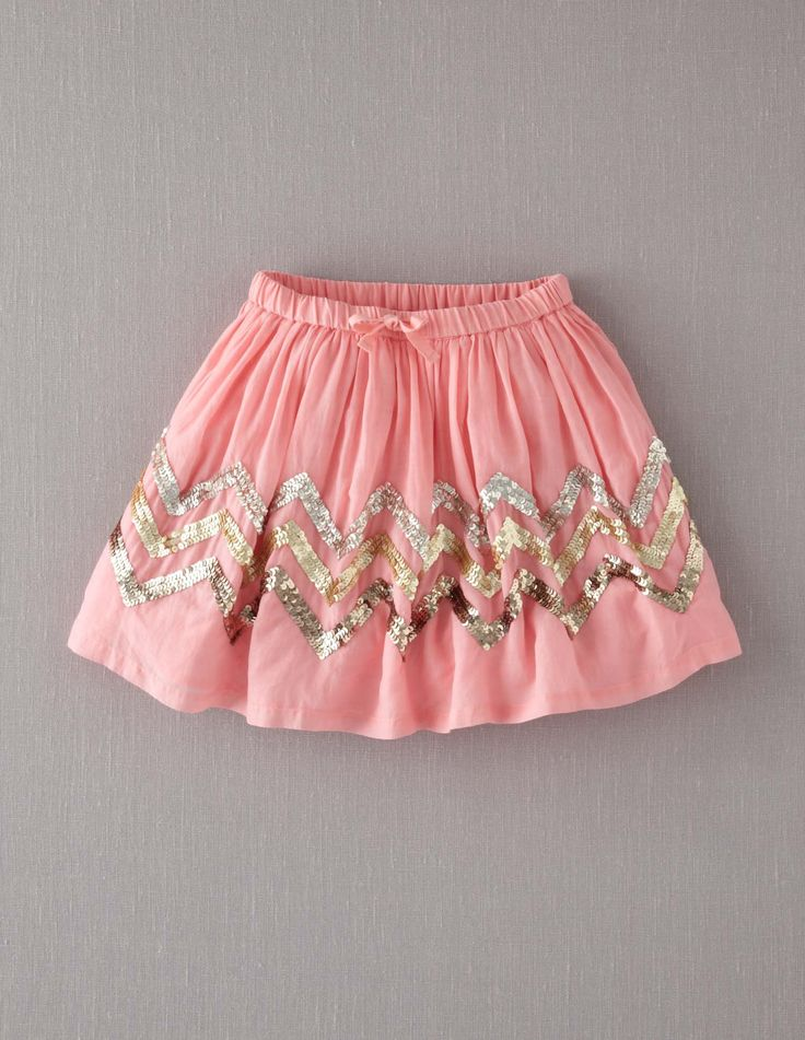 Fizzy Sequin Skirt - boden