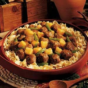 Moose Meatballs Recipe -Our family has found these meatballs in tangy sauce a great use for moose. I was glad to find a good recipe that incorporates ground moose meat, since we eat a lot of moose steaks and I like to use it differently for a change. -Janis Plourde, Smooth Rock Falls, Ontario