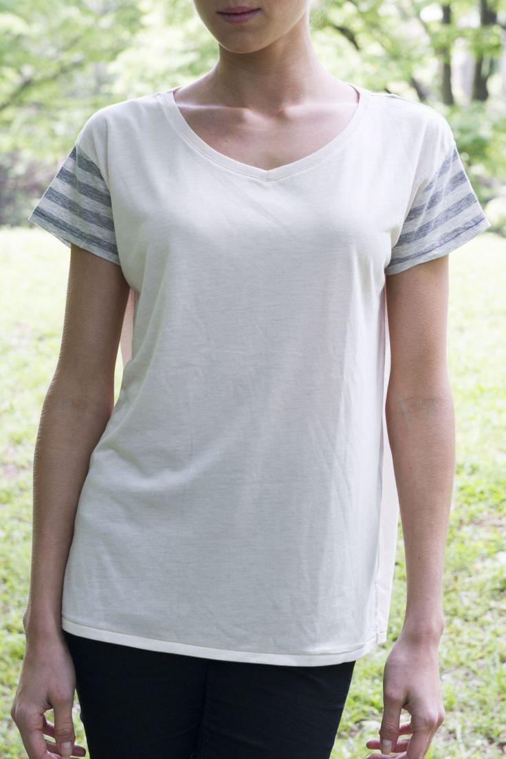 ckkn X roial 14' Summer New Collaboration!!  V-neck T-shirt - Gray http://ckkn.jp/ckkn-x-roial2014-summer-3/