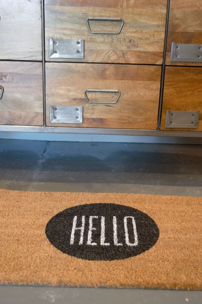 Love this floormat from Rose & Grey