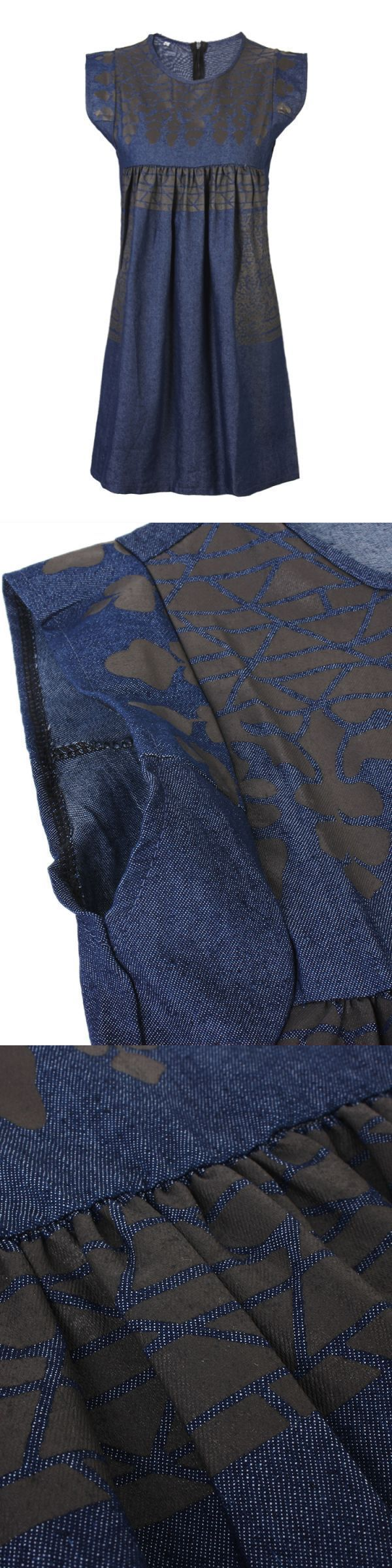 Casual women vintage sleeveless printing denim blue mini dress casual dresses for juniors forever 21 #casual #dresses #empire #waist #casual #dresses #next #casual #dresses #next #day #delivery #jcpenney #casual #dresses