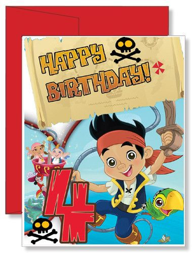 25 best personalized greeting cards images on pinterest personalized birthday greeting card disney jake and the neverland pirates m4hsunfo