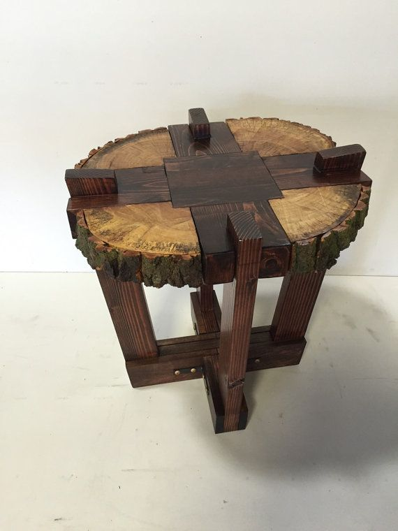 Log Slab Side Table or Coffee Table / by WolfcreekFurnitureCo