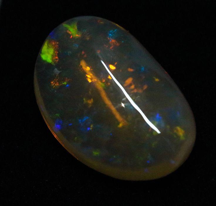 Crystal Opal - 5.78ct Lightning Ridge Opal, Australian Opal, Loose Opal, Single Opal, Baroque Shape by MsOpalWorld on Etsy
