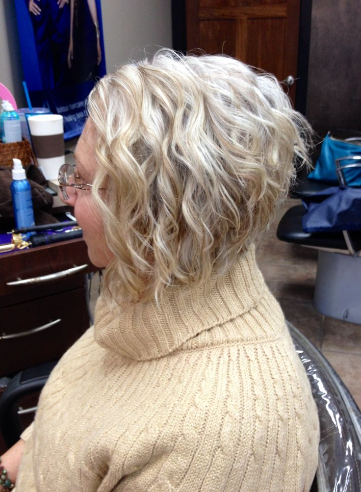 Dramatic inverted bob with a soft lowlight to break up her