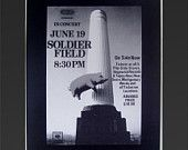 Pink Floyd  at Soldier Field June 19, 1977 Framed Concert Sheet by MVS