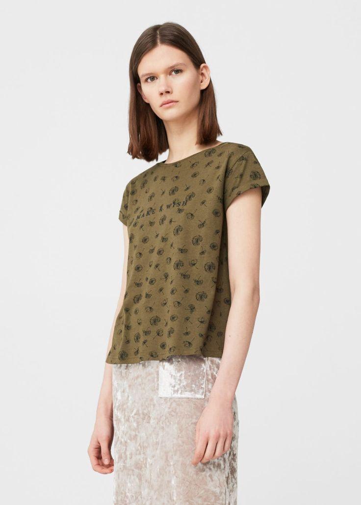 Μπλουζάκι βαμβακερό εμπριμέ | MANGO ΜΑΝΓΚΟ
