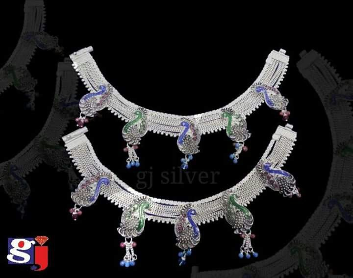 Silver fancy payal !  #Silver #anklet #payal #gj #payjeb #wedding #fashion #style