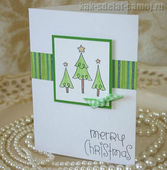 Делаем новогодние открытки своими руками
