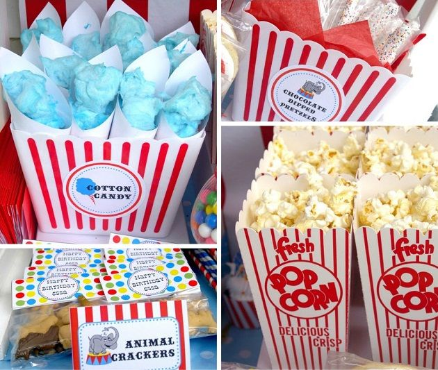 Concession stand ~ cotton candy, animal crackers & popcorn