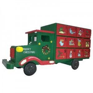 Ξύλινο φορτηγό merry Xmas